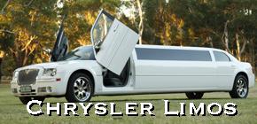 white chrysler limousine 300c