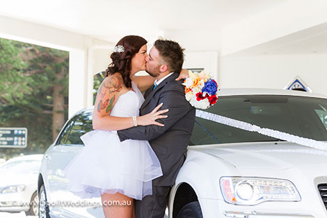 bridal couple, kiss, photo, wedding